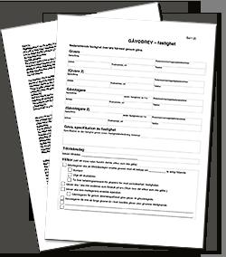 Gratis mall köpekontrakt, köpebrev och handpenningavtal